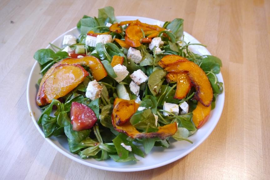 Salat mit gebackenemKürbis